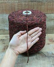 Carolina Clay Burgundy Brown Black Rust Acrylic Olefin Poly Boucle Yarn 800 Ypp