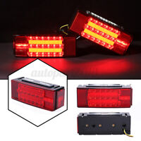 2x 12V LED Rectangle Taillight Waterproof Stop Turn Tail Light For Car Trailer