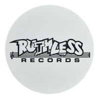 Ruthless Records - Logo - Single Slipmat White / Black