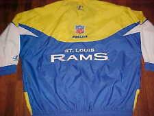 Logo Athletic NFL NFC Pro Line St. Louis Rams Yellow Blue Zipper Hood Jacket 3XL