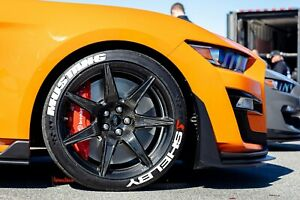 """Tire Lettering MUSTANG SHELBY PERMANENT Stickers 4x Tires 15""""-24"""" Decal 1.25"""""""
