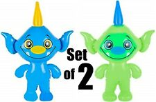 (Set of 2) 24'' Blue & Green Mythical Friends Inflatable - Toy Party Decoration