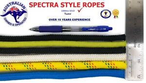 10mm Spectra Style Rope WHITE -Per 100m  Sailing Rope Line rock climbing