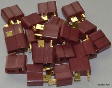 20 Female (Battery Side) Deans Style T-Connector Lipo Plugs - No Ridges