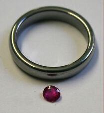 Loose Ruby Piedra Preciosa Natural 4 Mm Corte Redondo facetado 0,35 ct Gem ru43