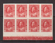 Canada #138 Extra Fine Mint Plate #127 Block With Full Type D Lathework