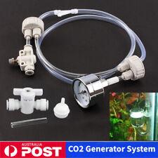 1set White DIY Aquarium Tank Co2 Generator Pro Tube Valve Guage Bottle Cap Kit