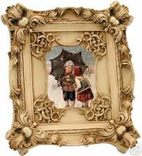 Childern Kidding In Replica Antique Frame Canvas Print