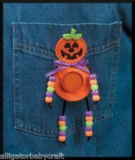 Halloween Reflector Pumpkin Pin Bead Craft Kit ABCraft