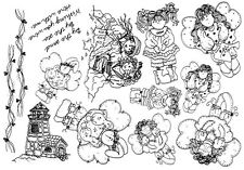 Unmounted Rubber Stamps Sheets, Lighthouse, Doll, Angels, Dolls, Hearts, Stamper