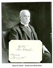 "Nelson W. Aldrich Autograph Senator Rhode Island ""General Manager of the Nation"""