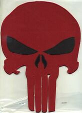 """The Punisher  5"""" x 7""""  Fully Embroidered Skull Patch - Choice of colors; iron on"""