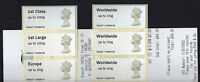 Ma13 CODE WINCOR MACHIN Post & Go  SET of 6  COLLECTORS STRIP WITH RECEIPT
