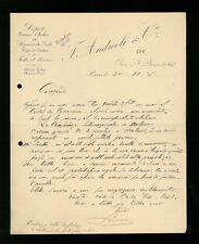 LETTERE COMMERCIALI F. ANDREOLI & C. PARIGI 1911