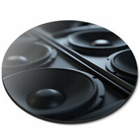 Round Mouse Mat - Awesome Music Speakers DJ Office Gift #14351