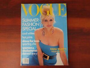 Vogue May 1990 Ivana Trump River Phoenix Christy Turlington Yasmeen Ghauri