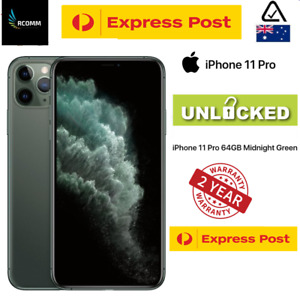 |AU STOCK| Apple iPhone 11 Pro 64GB Midnight Green 24 MONTHS AUS WARRANTY SEALED