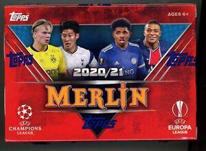2020-21 Topps Merlin UEFA Soccer Blaster Box Factory Sealed 8 PACKS Aqua SP!