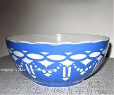 VILLEROY & BOCH SAXONY MIXING BOWL Antique Blue White 6763 Germany 1800s RARE