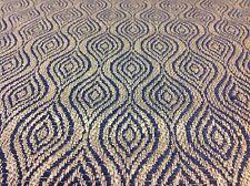 Lee Jofa Mulberry Woven Geometric Fabric Haslam Midnight Blue 1.08 yd FD665.F109