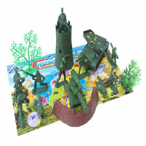 16 pieces army men playset 5cm soldier action figures with tanks sentry