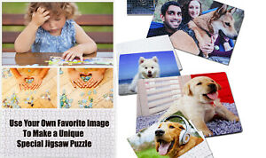 Personalized Image Wooden Jigsaw Puzzle Game hobby Gift For 300 & 500 Pieces