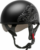 GMAX H1657077 HH-65 Naked Rose Helmet XL Matte Black