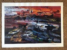 George Bartell Ford Mustang Lithograph Print Pencil Signed Artist Proof AF 1999