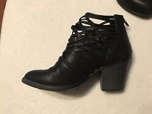 Women's Big Buddha Leather boots size 8 1/2 Black