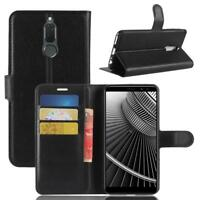 Huawei Mate 10 Lite Cartera Funda Cover Flip Wallet Case bolsa Carcasa Negro