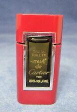 """Must De Cartier Eau De Toilette Miniature Perfume Bottle .4 Oz 2 1/4"""" Full"""