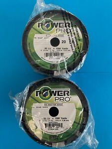 Power Pro Braid 1500 Yards 10 20 30 100 LB Moss (Dark) GREEN Fishing Line