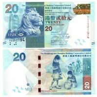 1.1.2012 - Lion//Autumn Festival//p212b UNC HSBC Hong Kong 20 Dollars