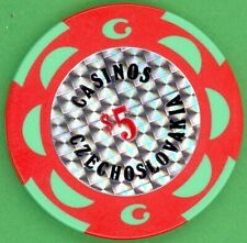Czechoslovakia - Casinos Czechoslovakia - $5 - old casino gambling chip