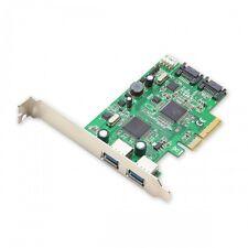 Syba SD-PEX50055 2 Port USB 3.0 and 2 Port SATA III 2-Lane PCI-e 2.0 x4 Card