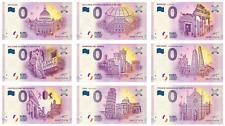 BILLETS 0 ZERO EURO - SOUVENIR - 9 BILLETS DE BANLIEUE ITALIEN - MILAN - VERONE