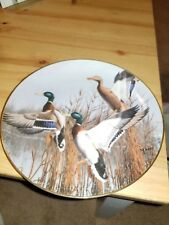 Vintage 1988 Danbury Mint Hazy Ascent by David Maass Ducks Taking Flight