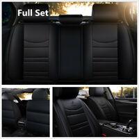 Full Set Black Color Breathable 5D Back-Split Car Seat Cover Protector Pad Mat