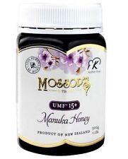 QTY 3 Pacific Resources International Mossops Manuka Honey UMF15+1.1lb exp2022