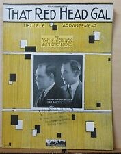 That Red Head Gal  - 1923 sheet music - Van And Schenck photo cover