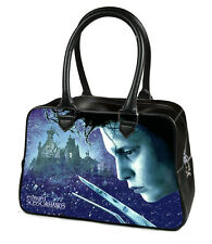 Edward Scissorhands Johnny Depp Winter Snowflake Goth Punk Poster Bowler Handbag