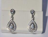 Echt 925 Sterling Silber Ohrringe Ohrstecker Zirkonia crystal Hochzeit Nr 221