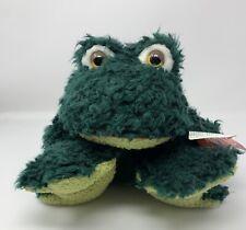 "Russ Amram's 14"" Frumps The Green Frog Stuffed Animal Plush Toy W/ Fuzzy ""Fur"""