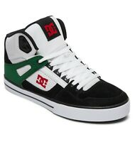 DC SHOES MENS HI TOPS BOOTS.NEW BOXED WHITE PURE HIGH LEATHER SKATE TRAINERS S20