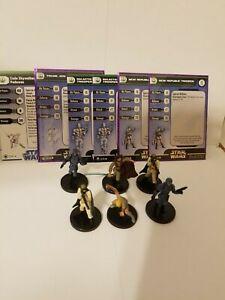 Star Wars Miniatures Cade Skywalker Padawan & Jedi Knight New Republic Team Lot