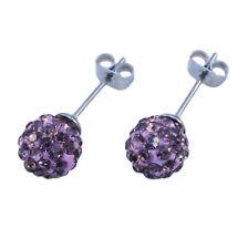 SHAMBALLA Style Czech Crystal Disco Clay Ball EAR STUD Earrings - 8mm (Pair Of)