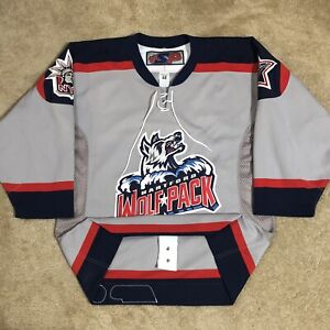 SP Authentic Hartford Wolfpack AHL Hockey Jersey Grey Alternate Third 3rd 48