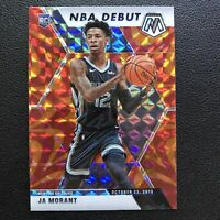 2019-20 Mosaic Ja Morant Rookie RC NBA Debut Orange Reactive #274 Grizzlies