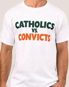 Catholics vs Convicts Vintage 1988 Shirt Notre Dame Miami FREE SHIPPING