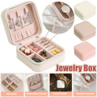 2 Colors Travel Jewelry Box Organizer Leather Jewellery Ornaments Case Storage